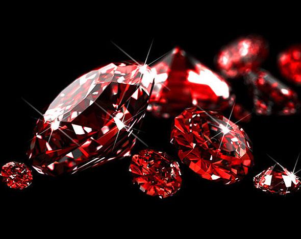 Красные драгоценные камни