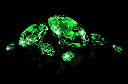 Зеленые драгоценные камни