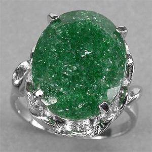 кольцо зеленый авантюрин