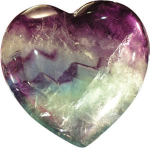 Сердце из флюорита