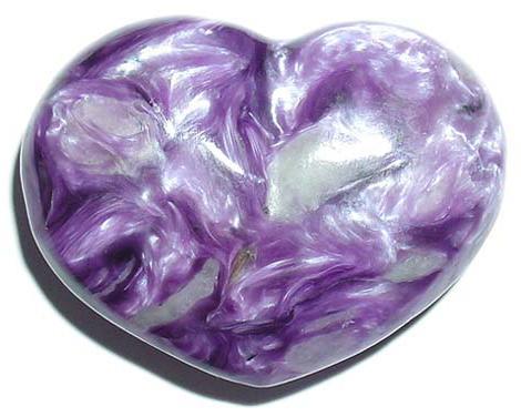 Сердце из чароита
