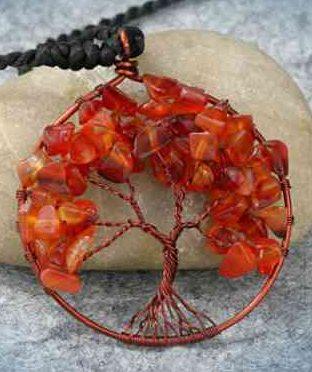 Амулет дерево сердолик