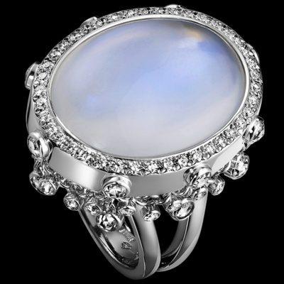 Лунный камень кольцо