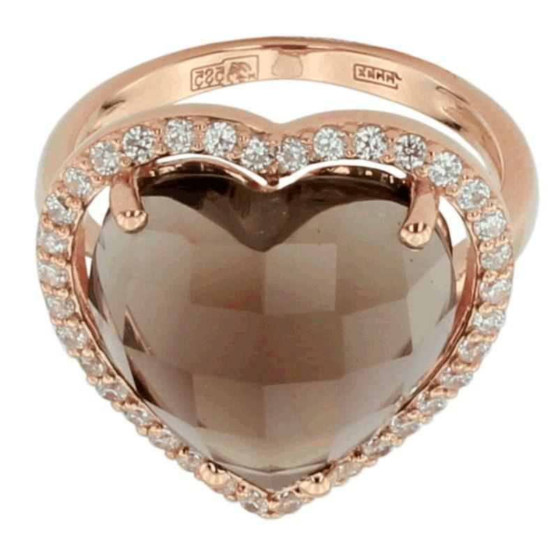 Раухтопаз кольцо