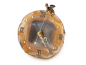 Часы из агата