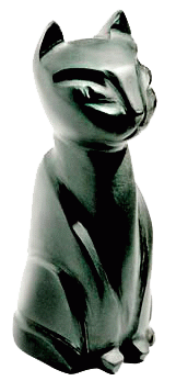 Фигурка из Гагата - кошка