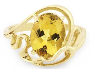 Кольцо с Гелиодором