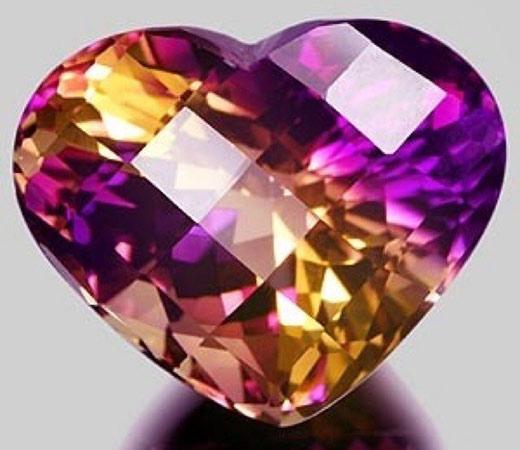 Аметрин сердце