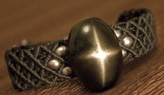 Украшение с камнем Черная Звезда