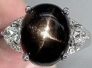 Кольцо с камнем Черная Звезда