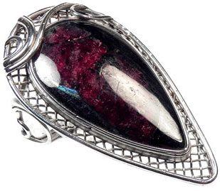 Кольцо с камнем Эвдиалит