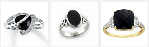 Черный Оникс кольца