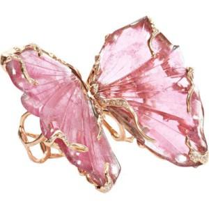 Бабочка из Розового Турмалина
