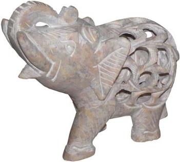 Фигура слон из стеатита
