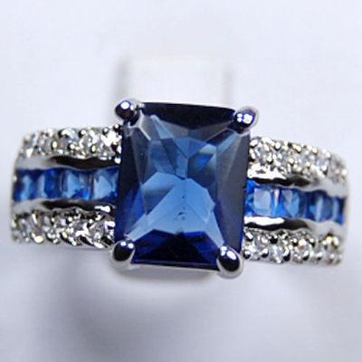 Кольцо с синим Турмалином