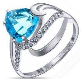 Кольцо с голубым алпанитом