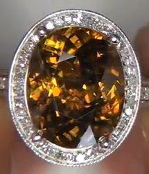 Кольцо с титанитом