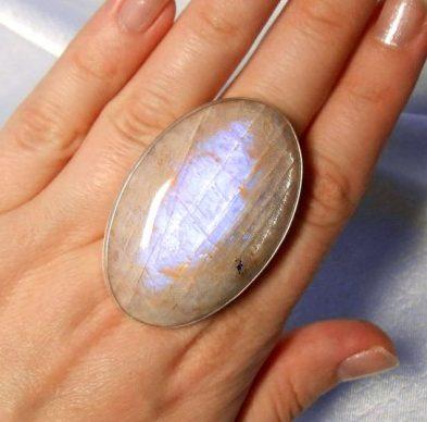 Беломорит кольцо